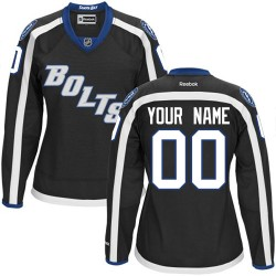 Reebok Tampa Bay Lightning Women's Customized Authentic Black Third Jersey