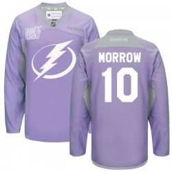 Tampa Bay Lightning Brenden Morrow Official Purple Reebok Premier Adult 2016 Hockey Fights Cancer Practice Jersey