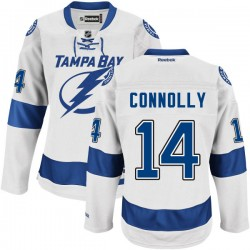 Tampa Bay Lightning Brett Connolly Official White Reebok Authentic Adult Road NHL Hockey Jersey
