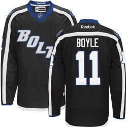 Tampa Bay Lightning Brian Boyle Official Black Reebok Authentic Adult Third NHL Hockey Jersey