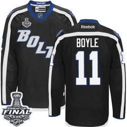 Tampa Bay Lightning Brian Boyle Official Black Reebok Authentic Adult Third 2015 Stanley Cup NHL Hockey Jersey