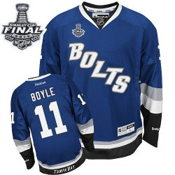 Tampa Bay Lightning Brian Boyle Official Royal Blue Reebok Premier Adult Third 2015 Stanley Cup NHL Hockey Jersey