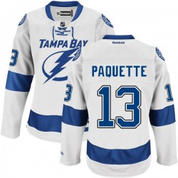 Tampa Bay Lightning Cedric Paquette Official White Reebok Premier Adult Road NHL Hockey Jersey