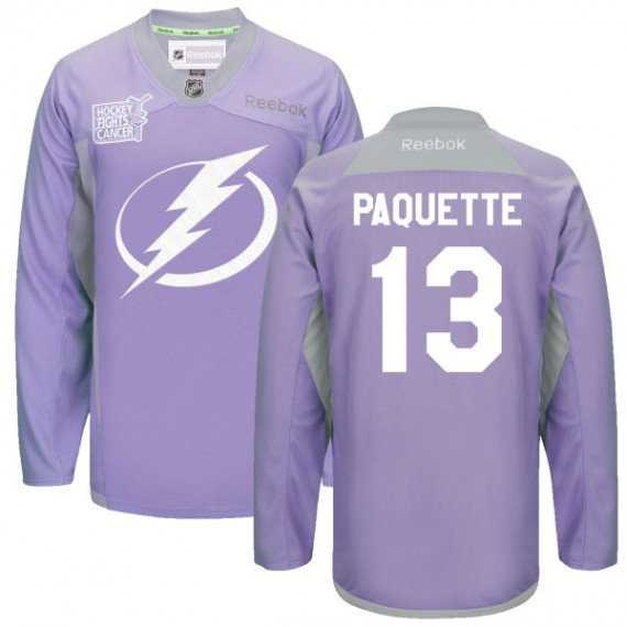 Tampa Bay Lightning Cedric Paquette Official Purple Reebok Authentic Adult  2016 Hockey Fights Cancer Practice Jersey c73960ec6