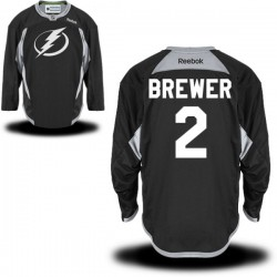 Tampa Bay Lightning Eric Brewer Official Black Reebok Authentic Adult Practice Team NHL Hockey Jersey
