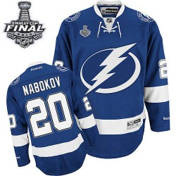 Tampa Bay Lightning Evgeni Nabokov Official Royal Blue Reebok Authentic Adult Home 2015 Stanley Cup NHL Hockey Jersey