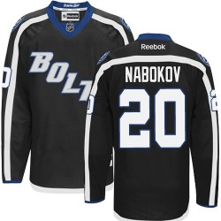 Tampa Bay Lightning Evgeni Nabokov Official Black Reebok Authentic Adult Third NHL Hockey Jersey