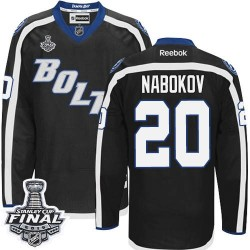 Tampa Bay Lightning Evgeni Nabokov Official Black Reebok Authentic Adult Third 2015 Stanley Cup NHL Hockey Jersey