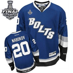 Tampa Bay Lightning Evgeni Nabokov Official Royal Blue Reebok Premier Adult Third 2015 Stanley Cup NHL Hockey Jersey