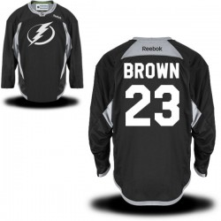 Tampa Bay Lightning J.t. Brown Official Black Reebok Authentic Adult Practice Team NHL Hockey Jersey
