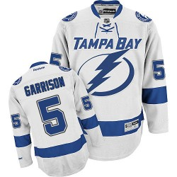 Tampa Bay Lightning Jason Garrison Official White Reebok Premier Adult Away NHL Hockey Jersey