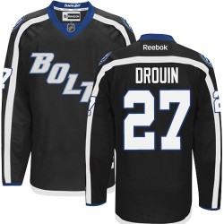 Tampa Bay Lightning Jonathan Drouin Official Black Reebok Authentic Adult Third NHL Hockey Jersey