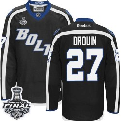 Tampa Bay Lightning Jonathan Drouin Official Black Reebok Authentic Adult Third 2015 Stanley Cup NHL Hockey Jersey