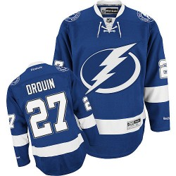 Tampa Bay Lightning Jonathan Drouin Official Royal Blue Reebok Authentic Adult Home NHL Hockey Jersey