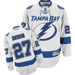 Tampa Bay Lightning Jonathan Drouin Official White Reebok Authentic Adult Away NHL Hockey Jersey