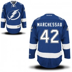 Tampa Bay Lightning Jonathan Marchessault Official Royal Blue Reebok Premier Adult Home NHL Hockey Jersey