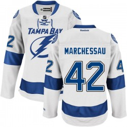 Tampa Bay Lightning Jonathan Marchessault Official White Reebok Authentic Adult Road NHL Hockey Jersey