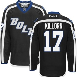 Tampa Bay Lightning Alex Killorn Official Black Reebok Authentic Adult Third NHL Hockey Jersey