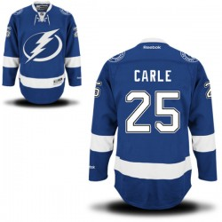 Tampa Bay Lightning Matthew Carle Official Royal Blue Reebok Authentic Adult Home NHL Hockey Jersey