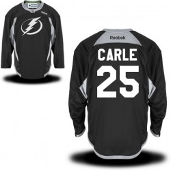 Tampa Bay Lightning Matthew Carle Official Black Reebok Authentic Adult Practice Team NHL Hockey Jersey