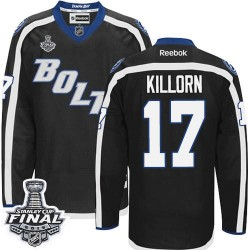 Tampa Bay Lightning Alex Killorn Official Black Reebok Authentic Adult Third 2015 Stanley Cup NHL Hockey Jersey