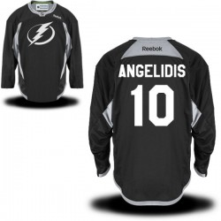 Tampa Bay Lightning Mike Angelidis Official Black Reebok Authentic Adult Practice Team NHL Hockey Jersey