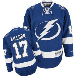 Tampa Bay Lightning Alex Killorn Official Blue Reebok Authentic Adult Home NHL Hockey Jersey