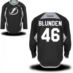 Tampa Bay Lightning Mike Blunden Official Black Reebok Authentic Adult Practice Team NHL Hockey Jersey