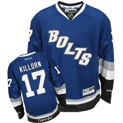 Tampa Bay Lightning Alex Killorn Official Blue Reebok Authentic Adult Third NHL Hockey Jersey