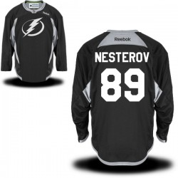 Tampa Bay Lightning Nikita Nesterov Official Black Reebok Authentic Adult Practice Team NHL Hockey Jersey