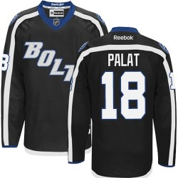 Tampa Bay Lightning Ondrej Palat Official Black Reebok Authentic Adult Third NHL Hockey Jersey
