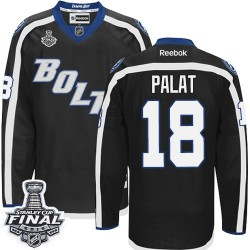 Tampa Bay Lightning Ondrej Palat Official Black Reebok Authentic Adult Third 2015 Stanley Cup NHL Hockey Jersey