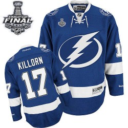 Tampa Bay Lightning Alex Killorn Official Royal Blue Reebok Authentic Adult Home 2015 Stanley Cup NHL Hockey Jersey