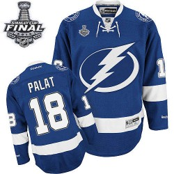 Tampa Bay Lightning Ondrej Palat Official Royal Blue Reebok Premier Adult Home 2015 Stanley Cup NHL Hockey Jersey