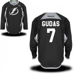 Tampa Bay Lightning Radko Gudas Official Black Reebok Premier Adult Practice Team NHL Hockey Jersey