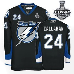 Tampa Bay Lightning Ryan Callahan Official Black Reebok Authentic Adult 2015 Stanley Cup NHL Hockey Jersey