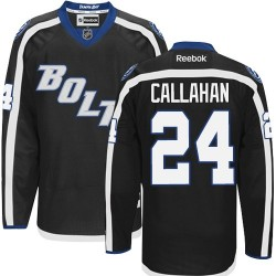 Tampa Bay Lightning Ryan Callahan Official Black Reebok Authentic Adult Third NHL Hockey Jersey