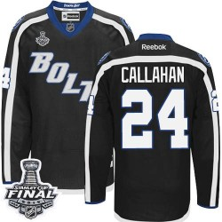 Tampa Bay Lightning Ryan Callahan Official Black Reebok Authentic Adult Third 2015 Stanley Cup NHL Hockey Jersey