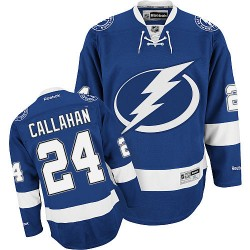 Tampa Bay Lightning Ryan Callahan Official Blue Reebok Authentic Adult Home NHL Hockey Jersey