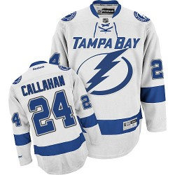Tampa Bay Lightning Ryan Callahan Official White Reebok Authentic Adult Away NHL Hockey Jersey