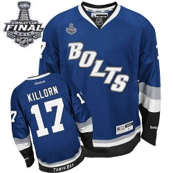 Tampa Bay Lightning Alex Killorn Official Royal Blue Reebok Premier Adult Third 2015 Stanley Cup NHL Hockey Jersey