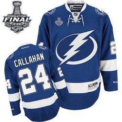 Tampa Bay Lightning Ryan Callahan Official Royal Blue Reebok Premier Adult Home 2015 Stanley Cup NHL Hockey Jersey