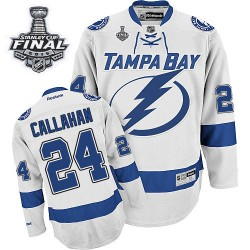 Tampa Bay Lightning Ryan Callahan Official White Reebok Authentic Adult Away 2015 Stanley Cup NHL Hockey Jersey