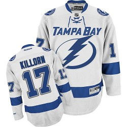 Tampa Bay Lightning Alex Killorn Official White Reebok Authentic Adult Away NHL Hockey Jersey