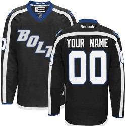 Reebok Tampa Bay Lightning Men's Customized Authentic Black Third Jersey