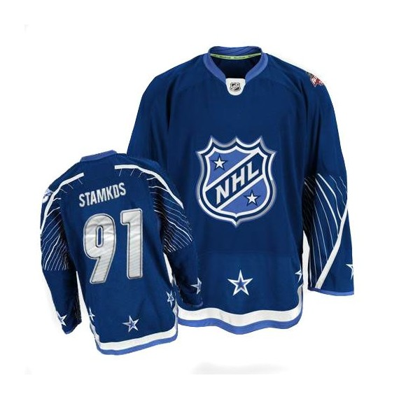 Tampa Bay Lightning Steven Stamkos Official Navy Blue Reebok Authentic Adult 2011 All Star NHL Hockey Jersey