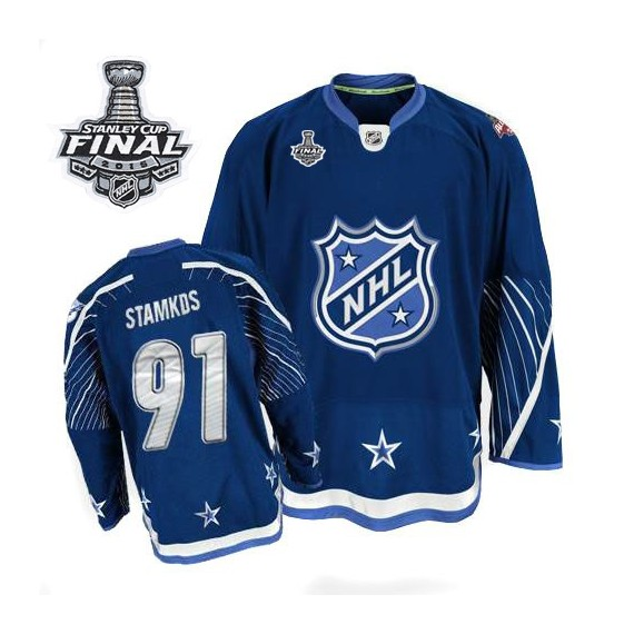 Tampa Bay Lightning Steven Stamkos Official Navy Blue Reebok Authentic Adult 2011 All Star 2015 Stanley Cup NHL Hockey Jersey