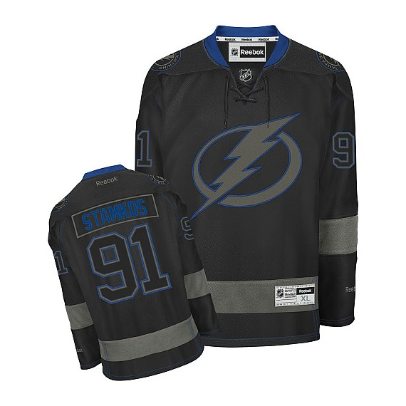 Tampa Bay Lightning Steven Stamkos Official Black Ice Reebok Premier Adult NHL  Hockey Jersey 3d18ecae02d