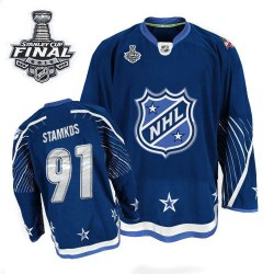 Tampa Bay Lightning Steven Stamkos Official Navy Blue Reebok Premier Adult 2011 All Star 2015 Stanley Cup NHL Hockey Jersey