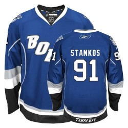 Tampa Bay Lightning Steven Stamkos Official Blue Reebok Authentic Youth Third NHL Hockey Jersey